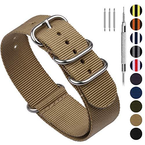 Fullmosa 10 Colori Cinturino Orologio,per Cinturino 18mm 20mm 22mm 24mm,...