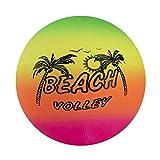Beachball Strandball Neonfarben Wasserball 15cm Mitgebsel Gastgeschenke mit Palandi® Sticker