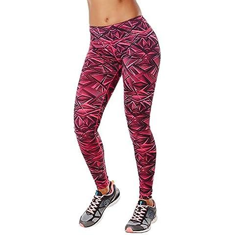 Zumba Fitness WB Dazzle Me Perfect Leggings - Medias deportivas para mujer, color rojo, talla S