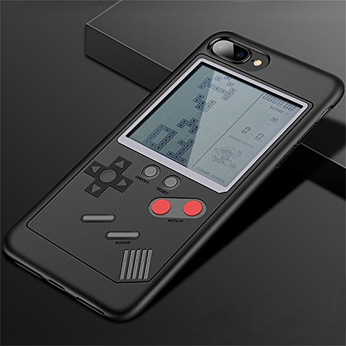 iPhone Fall Tetris Game Schutzhülle Dekompression Spiel iPhone 6/7/8/x kompatibel - Slim Fit - leicht - Hartschale - Retro Gamer Case - Retail Box Verpackung, for iPhone 6/6s Plus, schwarz