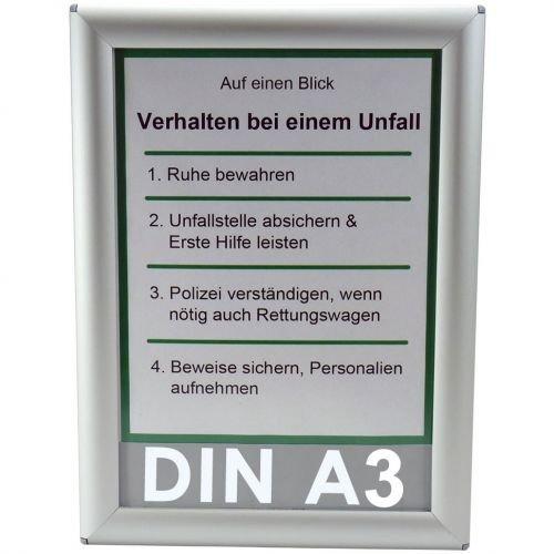 Alu Klapprahmen DIN A3 Opti Frame®, Klapprahmen, Wechselrahmen, Klick Rahmen, Klapp Rahmen, Alu, 25mm, Flyer Rahmen, Bilder Rahmen