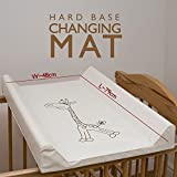 Baby Cot Bed Changing Mat/Units (COT TOP CHANGER 80 x 50) - GIRAFFE ECRU
