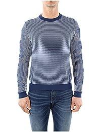 3LA5PU23376K42 Kenzo Pull Homme Coton Bleu