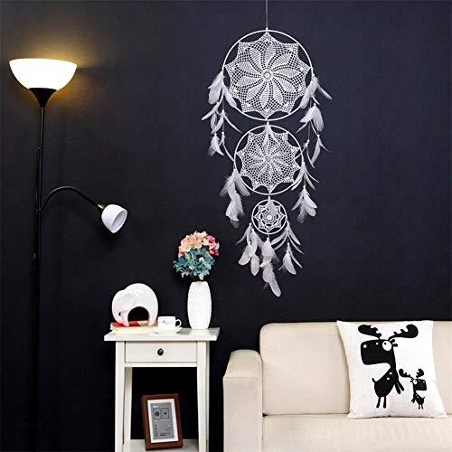 ingTraumfänger, Große Windspiele Häkeln Design Dreamcatcher Wandkunst Hängende Ornamente Dekoration, Wand, Tür, Schlafzimmer, Wohnzimmer, 130 x 85 cm ()
