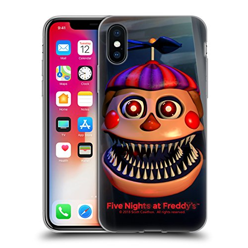 Official Five Nights At Freddy's Nightmare Balloon Boy Game 4 Soft Gel Case for iPhone X