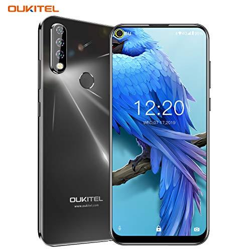 Oukitel C17 Pro (2019) Smartphone ohne Vertrag Günstig Triple Kamera (AI Modus) 6,35 Zoll Full Screen Android 9.0 Handy 4GB RAM+64GB ROM, 3900 mAh Akku Dual SIM Face ID Fingerabdrucksensor - Schwarz