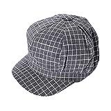 ZEELIY- Caps -Damen Casual Mode Baumwollmaschen-Kappenhut Schwarzweiss-Plaid-Kappe um