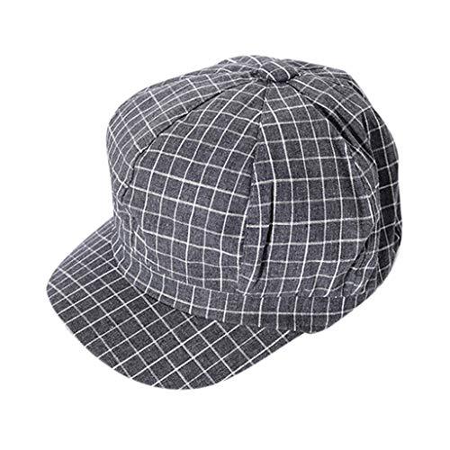 Syeytx Women Fashion Casual Baumwoll-Mesh-Mütze Schwarzweiß Plaid Cap