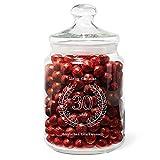 Geschenke.de Personalisierbares Keksglas zum 30 Geburtstag mit Gravur als Geschenkidee mit Namen für Geschenke zum 30 Geburtstag für Frauen und Männer, graviertes Keksglas