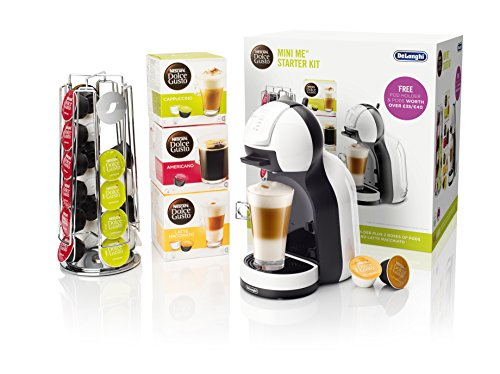 NESCAFÉ Dolce Gusto Mini Me Coffee Machine Starter Kit by De'Longhi, White/Black Test