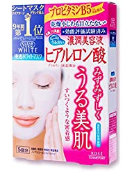 Kose Clearturn White Hyaluronic Acid Paper Facial Mask---5 Piece (japan import)