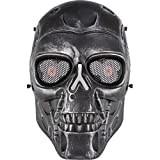 Máscara de calavera HTUK® para airsoft, paintball, disfraz de Halloween, negro