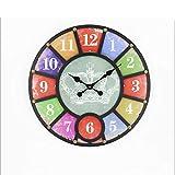 ZYFA Wanduhren Runde Wanduhr, kreative Holzuhren, Wand-Wanddiagramme für Wandmontage, Wandbehänge für Zuhause (Größe: 58 * 4 * 58cm) (Farbe : B)