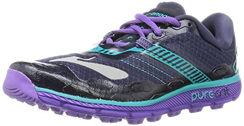 Brooks Puregrit 5, Zapatillas De Running para Mujer, Multicolor (Peacoat/Passion Flower/Ceramic), 42 EU