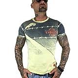 Yakuza Original Herren Read Crow T-Shirt Gr:-L, Farbe:-Pastel Yellow