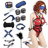 BDSM Bondage Set Nabini Sex Spiel Cosplay Erotische Peitsche Orgasmus Sexspielzeug 11 Stück Stimulation Erotik Fesselset SM Bondage BDSM Spielzeug