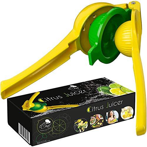 CuzyChef Zitruspresse, Handgerät,manuelle Saftpresse für Zitronen, Limetten und Orangen, strapazierfähig und spülmaschinenfest, aus Aluminium, hochwertiger Küchenhelfer