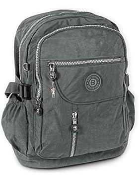 Rucksack, Handtasche grau Nylon Damen Cityrucksack Bag Street OTJ604K