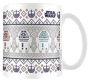 Star Wars MG23586 Tasse en céramique Noël R2 D2 8x11,5x9,5cm multicolore