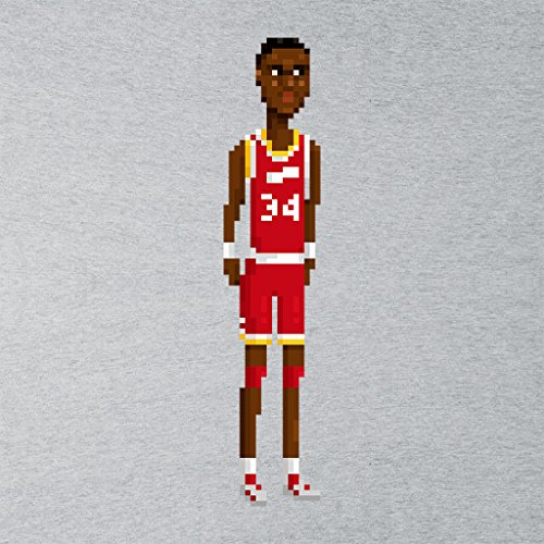 Cloud City 7 Hakeem Olajuwon Body Pixel Womens T-Shirt Heather Grey