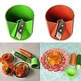 Máquina de cortar verduras, cortador de frutas, cortador de frutas, herramienta de cocina, cuchillo para tallar alimentos, cortador de frutas, color al azar