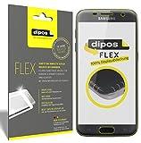dipos I 3X Pellicola Protettiva Compatibile con Galaxy S7 - Rivestimento del Display al 100% - Pellicola di Protezione