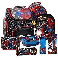 88f3be1511e58 Spiderman Spinne Marvel Schulranzen Ranzen Schulmappe Tornister  Schulrucksack Set 8 teilig