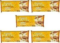 Harveys Crunchy & Creame Gourmet Delicacies Cream Wafer Biscuit 150 g Sticks - Vanilla Flavoured (Pack of 5)