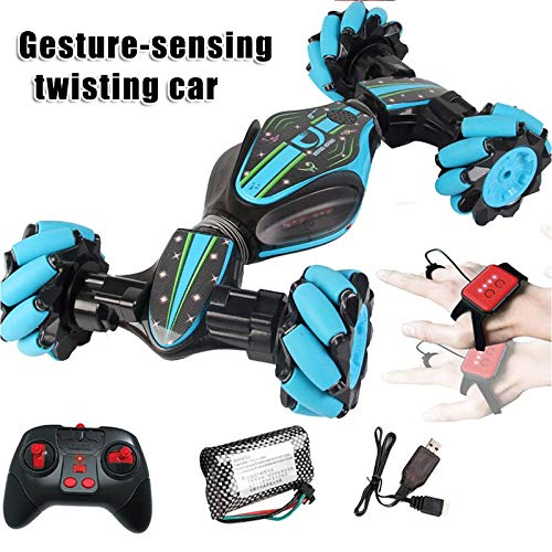 Ferngesteuertes Auto, Gizayen RC Racing Car Rennauto, 2.4Ghz Remote Control Car Double Sided Tumbling 360 Degree Rotation Indoor Outdoor Spiele Gelände Kinder Spielzeug (Blue-style1)