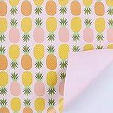 flamingo geschenkpapier, ölgemälde, handgemalten kunst auf papier, pflanze geschenk, blume und blüte verpackungsmaterial,ananas - ananas