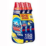 Finish Detersivo Lavastoviglie All in 1 Max Powergel, Limone, 3 x 1000 ml, 150 Lavaggi