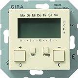 Gira 237001 Raumtemperatur-Regler 230 V mit Uhr System 55, cremeweiß