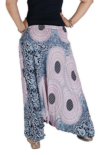 AuthenticAsia Damen Harem Hose Mehrfarbig mehrfarbig One size Weiß
