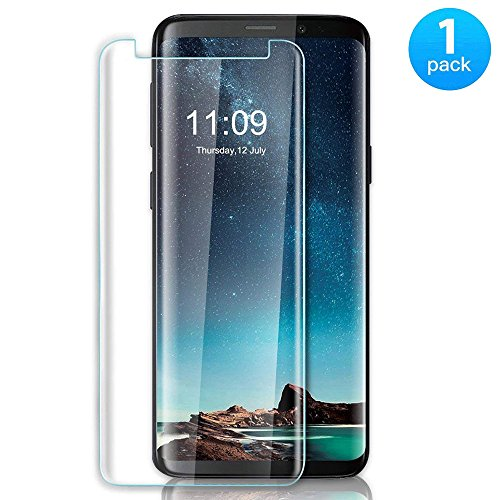 JTMall [1-Pack] Samsung Galaxy S9 Plus Screen Protector, 0.26mm 9H Hardness and Easy Bubble-Free Installation 3D Touch Compatible Premium Tempered Glass Film [Scratch-Resistant][Anti-Shatter]