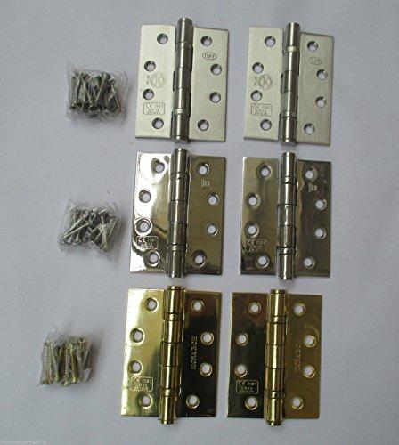 Ironmongery World® cuscinetto a sfera in acciaio INOX grado 13cerniere per porta EN193Fire testato CE1121, SATIN STEEL/LIKE SATIN CHROME