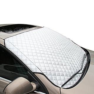 FREESOO Q330002-02-YK-XD01-B Autoscheibenabdeckung Frontscheibenabdeckung UV Sonnenschutzabdeckung Frostabdeckung, Größe 145*103CM