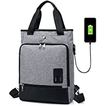 Mochila para Mujeres Hombres Bolso SINOKAL Bolsa de viaje Mochila de Portátil Backpack Impermeable para el Laptop del Negocio Trabajo Diario Ocio con puerto de carga USB (Gris)