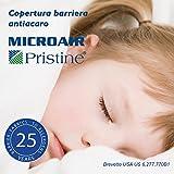 Microair Pristine Zero Set Barriera Antiacaro 1 Coprimaterasso Matrimoniale cm 160x200x22 + 2 Copricuscino Standard cm 50x80