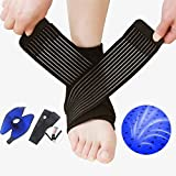 #5: Tdas Adjustable Ankle Support Pad Brace Cap Sleeve Socks Wrap Straps Band Bandage For Pain Relief For Unisex (1)
