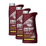 3X MANNOL MN7906-1 Energy Ultra JP 5W-20 Motoröl API SN 1L