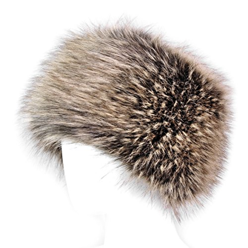 Futrzane Faux Fur Cossak Russian Style Winter Hat for Ladies Women
