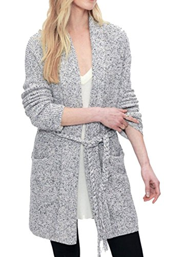 Splendid Gallery Belted Cardi In Chambray Multi (Cardigan Belted Cotton)