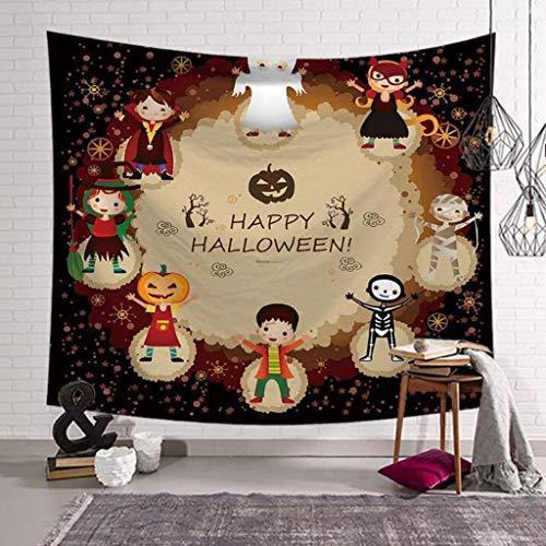 Nacht Wandteppich, Kürbis und Spukhaus Ghost dekorative Decke, Schlafzimmer Wohnzimmer Wohnheim gedruckt Wandteppich/Wanddecke/Badetuch (Color : H, Size : 60 x 51 inches) ()