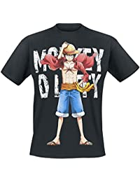 T-shirt One Piece Cool Monkey D. Luffy noir