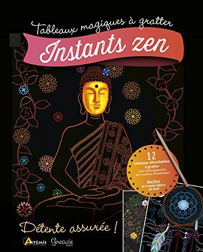 Instants zen : 12 tabeaux détachables à gratter, inclus le crayon biface en bois