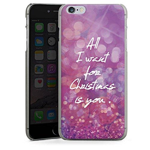 Apple iPhone X Silikon Hülle Case Schutzhülle Weihnachten Liebe Mariah Hard Case anthrazit-klar