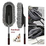 TOUA Microfiber Flexible Car Cleaning Duster Car Wash Dust Wax Mop Car Washing