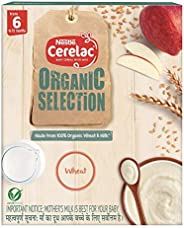 Nestlé CERELAC Organic Selection Wheat Cereal - From 6 to 12 months, 200g Bag-In-Box Pack