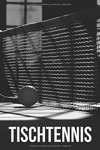 Tischtennis: Liniertes Notizbuch für alle Notizen, Termine, Skizzen, Zeichnungen oder Tagebuch ; breites Linienraster; Motiv: Tischtennisschläger