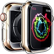 iWatch Overall Protective Case for Apple Watch Screen Protector Series4 44mm, Ultra Thin Clear iWatch 44mm Scr